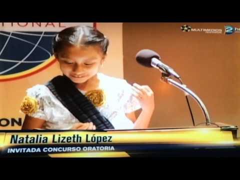 """Natalia Lizeth Lopez Lopez en el Concurso de la División """"A"""" de Toastmasters International"""