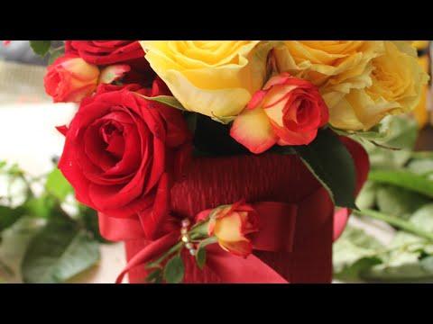 Букет в коробке из живых цветов / DIY Bouquet In Box