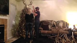 Shed Antler Christmas Tree Time Lapse