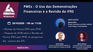 O Uso das Demonstrações Financeiras De Pme  e a revisão da IFRS Para Pme