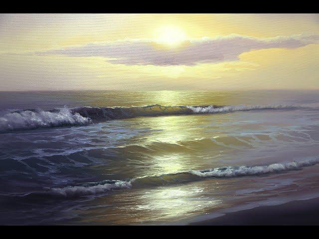 Рассвет. Солнечный свет. Отражение на воде. Как нарисовать картину. Начало вебинара Дмитрия Розы.