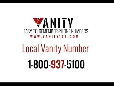 Local Vanity Number   YouTube