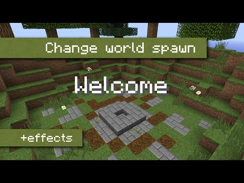 How to set the world spawn to a single block using command blocks [Tutorial | English]