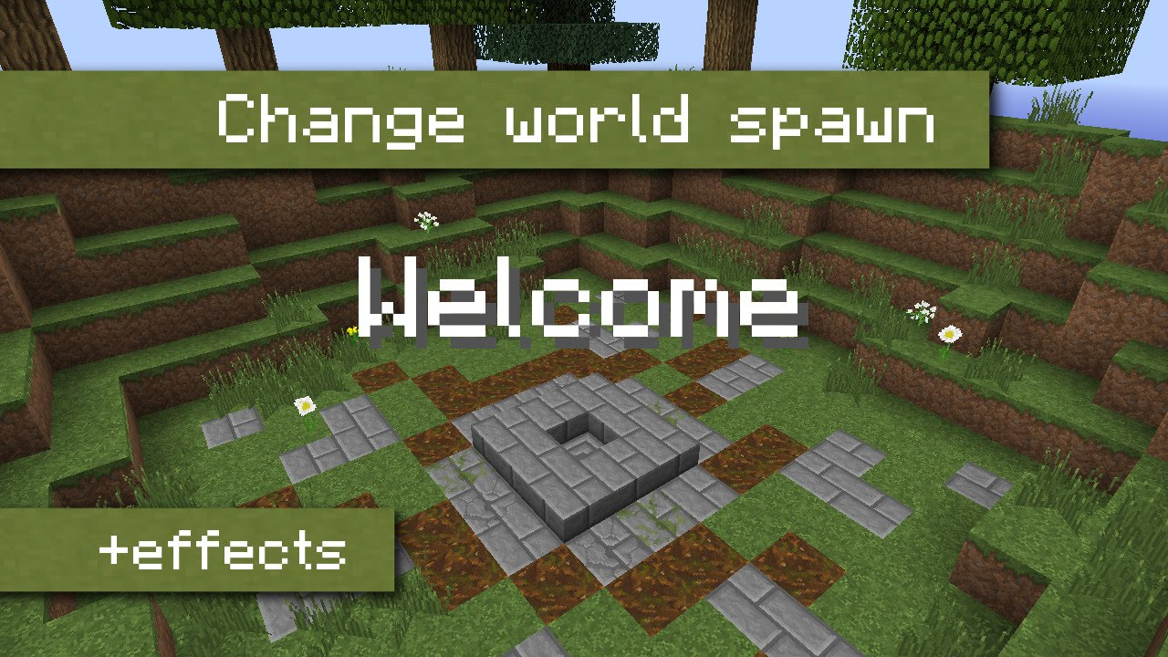 How to set the world spawn to a single block using command