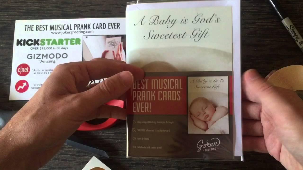 Joker Baby Shower Greeting Card Youtube