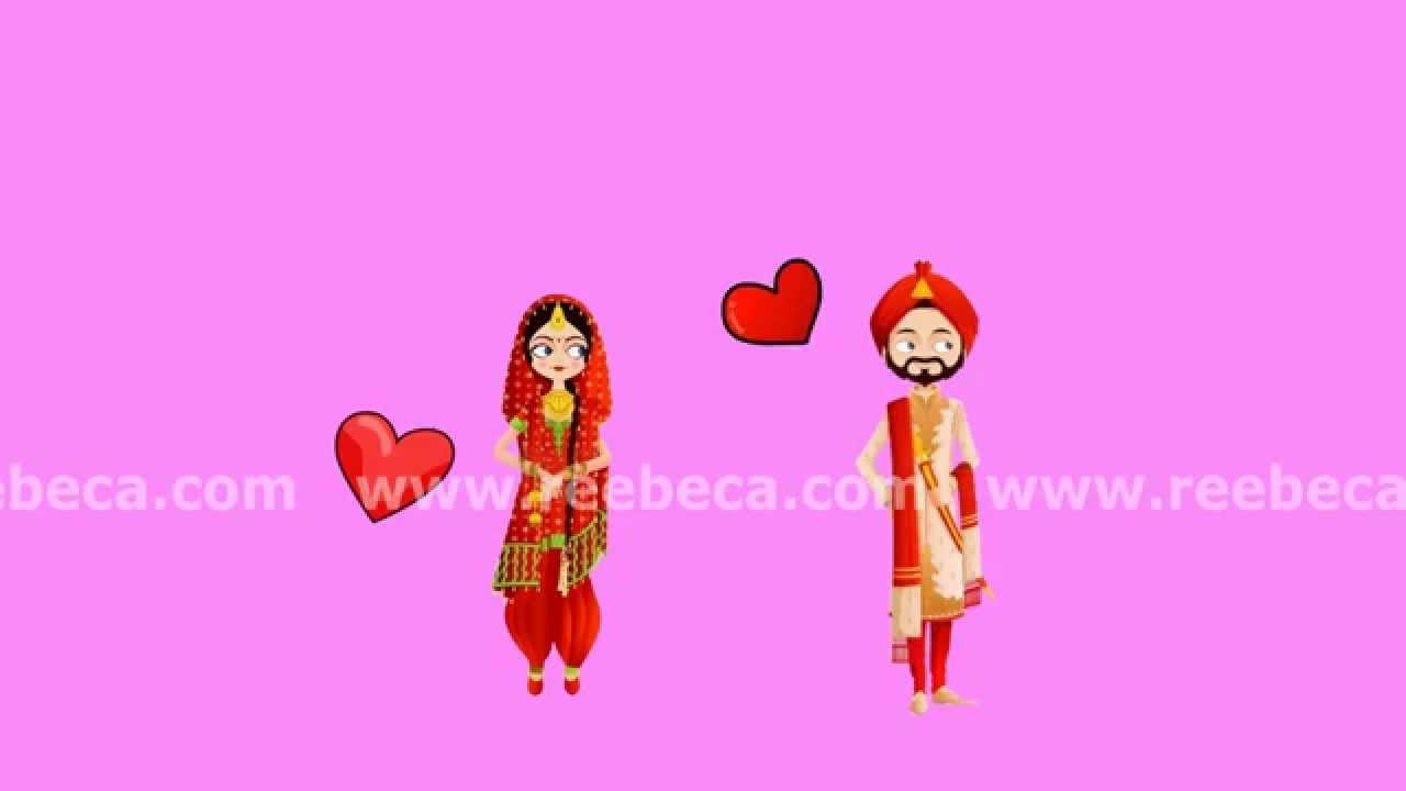 Punjabi Theme - Animated Wedding Video Invite - For WhatsApp - YouTube
