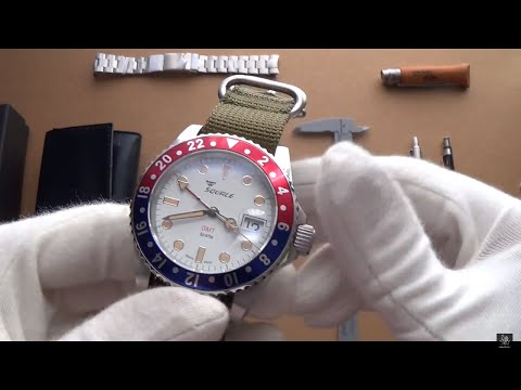 The Squale 30 ATMO Swiss Automatic Pan Am GMT Watch Review - #1545-PANAM