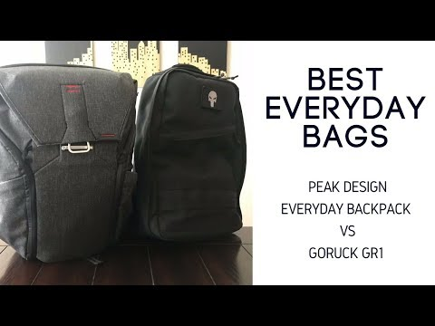 Best Daily Bag Comparison: Peak Design Everyday Bag vs GORUCK GR1