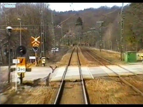 Sweden. HÄSSLEHOLM - HELSINGBORG (1998) Train Driver's Cab View from Y2 1368