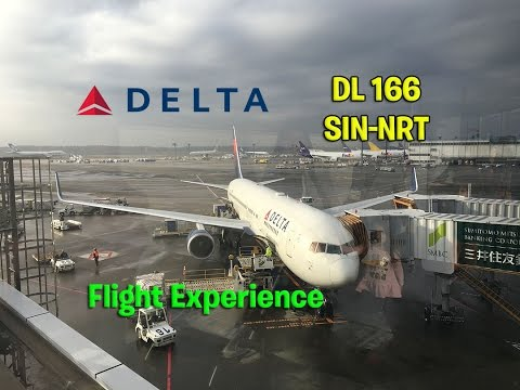 Delta Airlines DL 166 Singapore to Tokyo-Narita Main Cabin Flight Experience (December 1st, 2016)