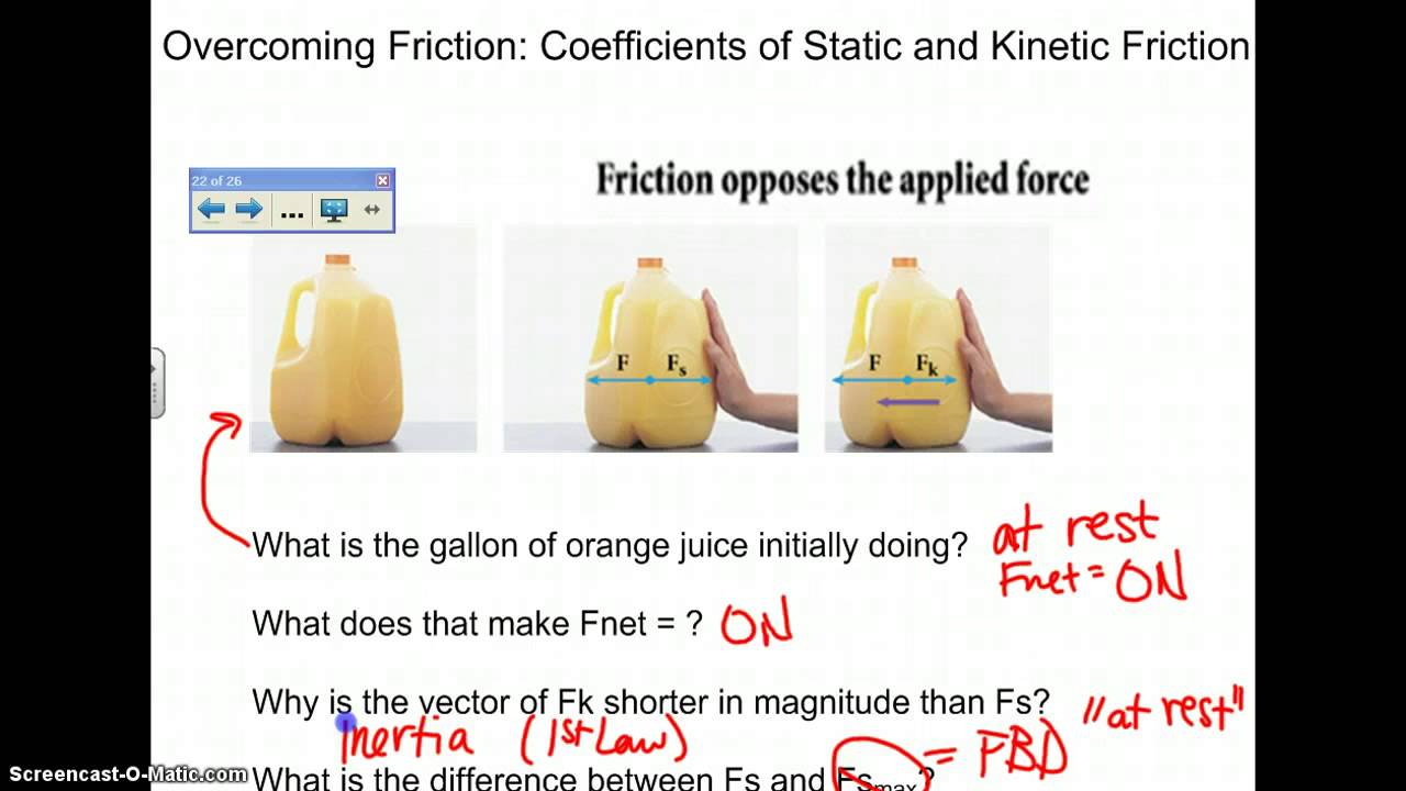how to work out the cefficiant of friction