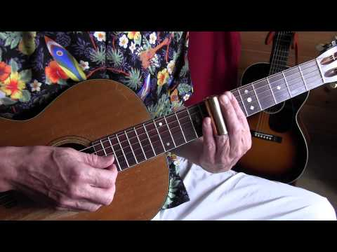Lesson  acoustic slide guitar  Snake Eyes Blues