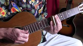 lesson - acoustic slide guitar - snake eyes blues