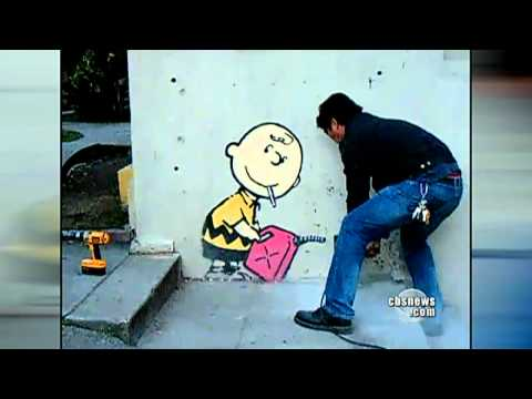 """Banksy"" creates street art and mystery"