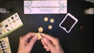 flower tutorial using art philosophy cartridge ctmh
