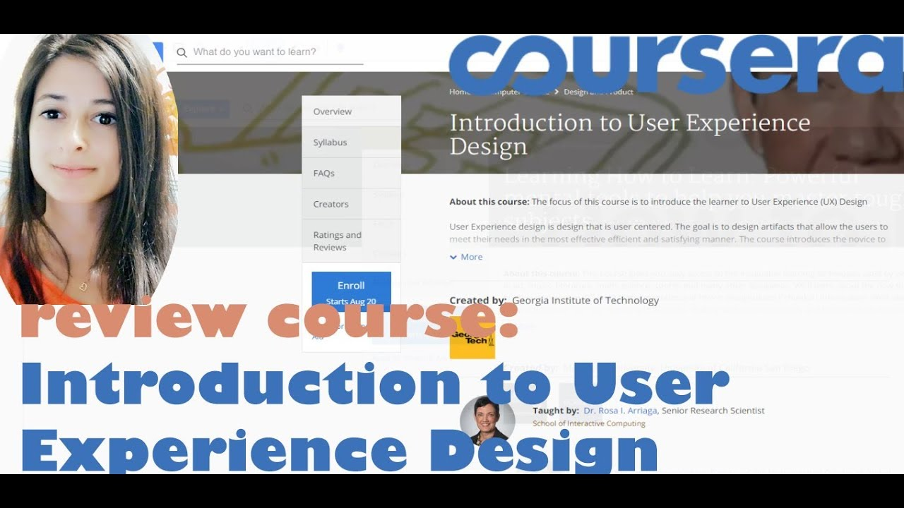Introduction To Ux Design Coursera Reviewing Online Tech Courses Youtube