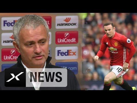 Jose Mourinho lobt Strafraum-Stürmer Wayne Rooney | Manchester United -  Sorja Lugansk 1:0
