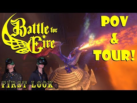 FIRST LOOK:  Battle For Eire Virtual Reality Ride Busch Gardens Williamsburg POV & Tour!