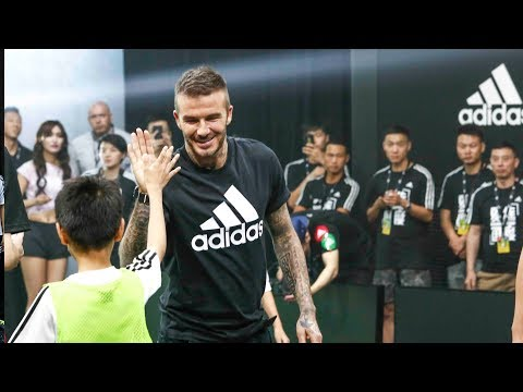 David Beckham motivates young footballers in China to be creative