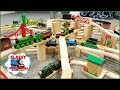 HUGE Thomas Wooden Railway and Brio Layout in Basement with 3 Levels - Ep. 27