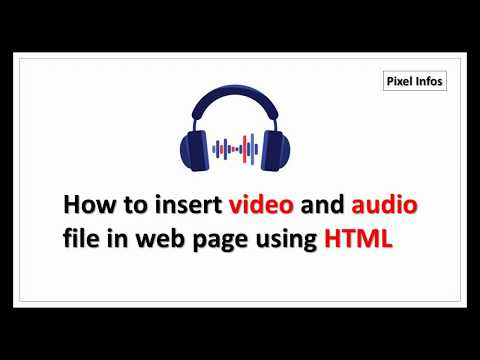 How To Insert VIDEO | AUDIO File In Web Page Using HTML