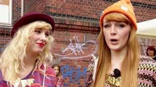 Shopping aufm Mädelsflohmarkt in Hamburg ★ Haul Sisters - Vicky & Joleena