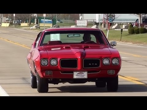 Test Driving 1970 Pontiac GTO 400 V8 Muscle Car