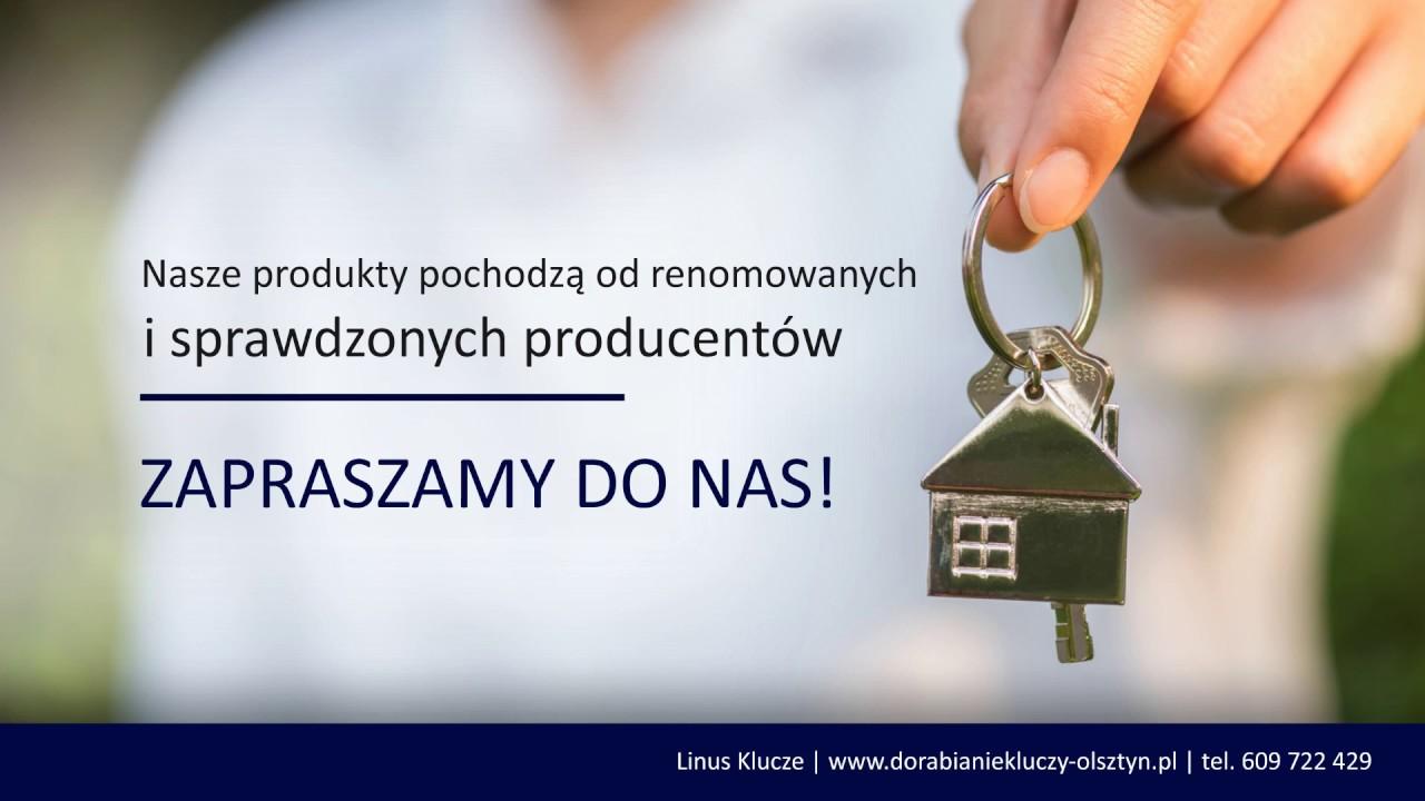 Ogromnie Dorabianie kluczy mieszkaniowych naprawa zamków Olsztyn PHU Linus OA22