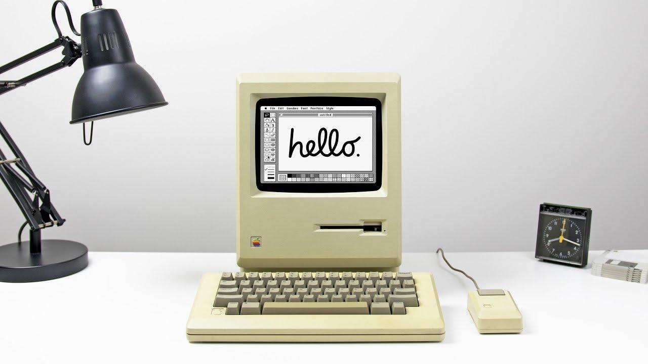 apple desk setup 1984