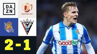 Oyarzabal und Ödegaard trotzen Favoritenschreck: Real Sociedad - Mirandes 2:1 | Copa del Rey | DAZN