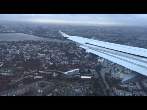 "Spectacular landing during Orkan ""Niklas"" in Hamburg with LH2078, 31.03.2015"