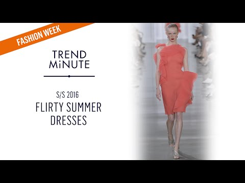 Trend Minute: New York S/S 16 – Flirty Dresses