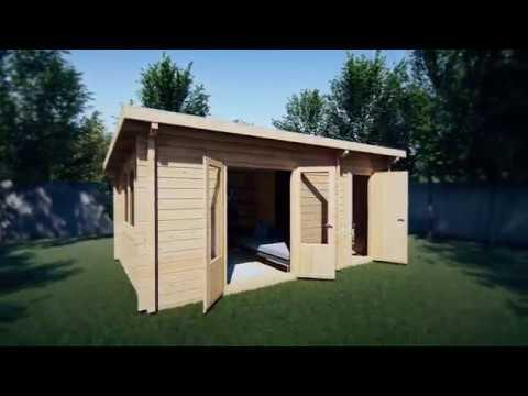 Kombiniertes gartenhaus und schuppen super tom m youtube