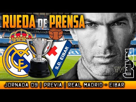 Real Madrid - Eibar Rueda de prensa de Zidane (21/10/17) | PREVIA LIGA JORNADA 09