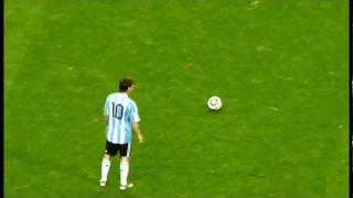 2010.10.8 キリンチャレンジカップ2010 日本×アルゼンチン 川島選手がメッシのFKをファインセーブ