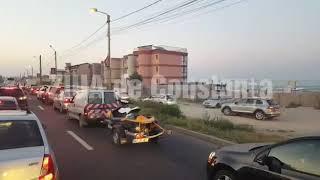 UPDATEAccident rutier pe DN 39 cu o victimă pieton, în stare gravă. Trafic blocat (Galerie foto)