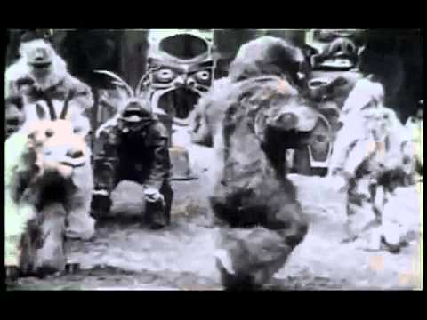 """Kwakiutl Winter Ceremonial Dance, Edward S. Curtis' """"In the Land of the Head Hunters"""""""