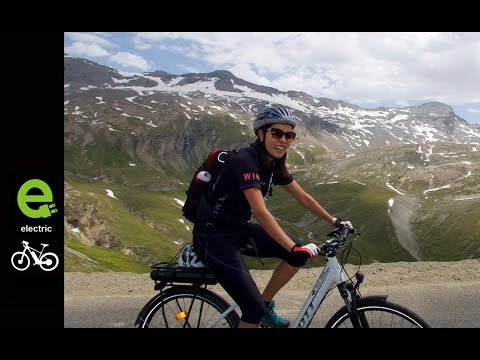Today e-Bikes take on the Alps.