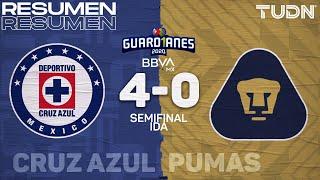 Resumen y goles | Cruz Azul 4-0 Pumas | Semifinal Ida - Guard1anes 2020 Liga BBVA MX | TUDN