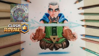 COMO DIBUJAR AL ARQUERO MAGICO - CLASH ROYALE / how to draw magic archer - clash royale