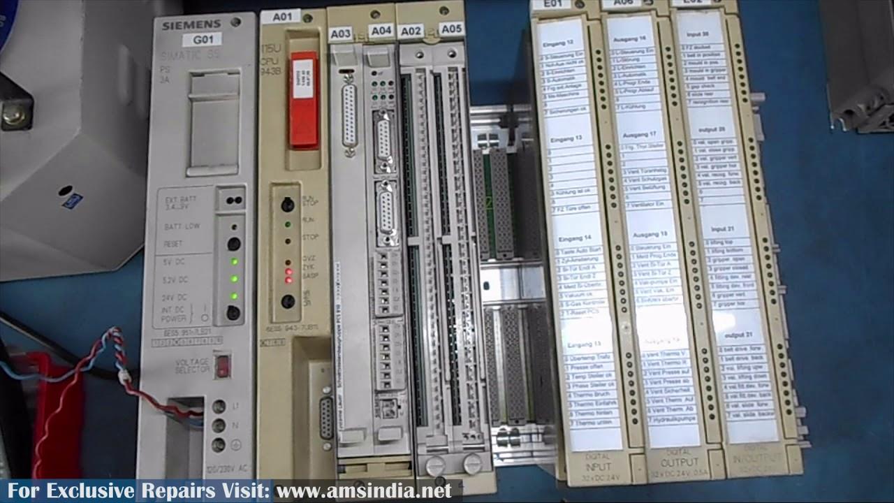 Repair of SIEMENS S5-115U PLC 6ES5 943 7UB11 | Advanced Micro Services Pvt   Ltd