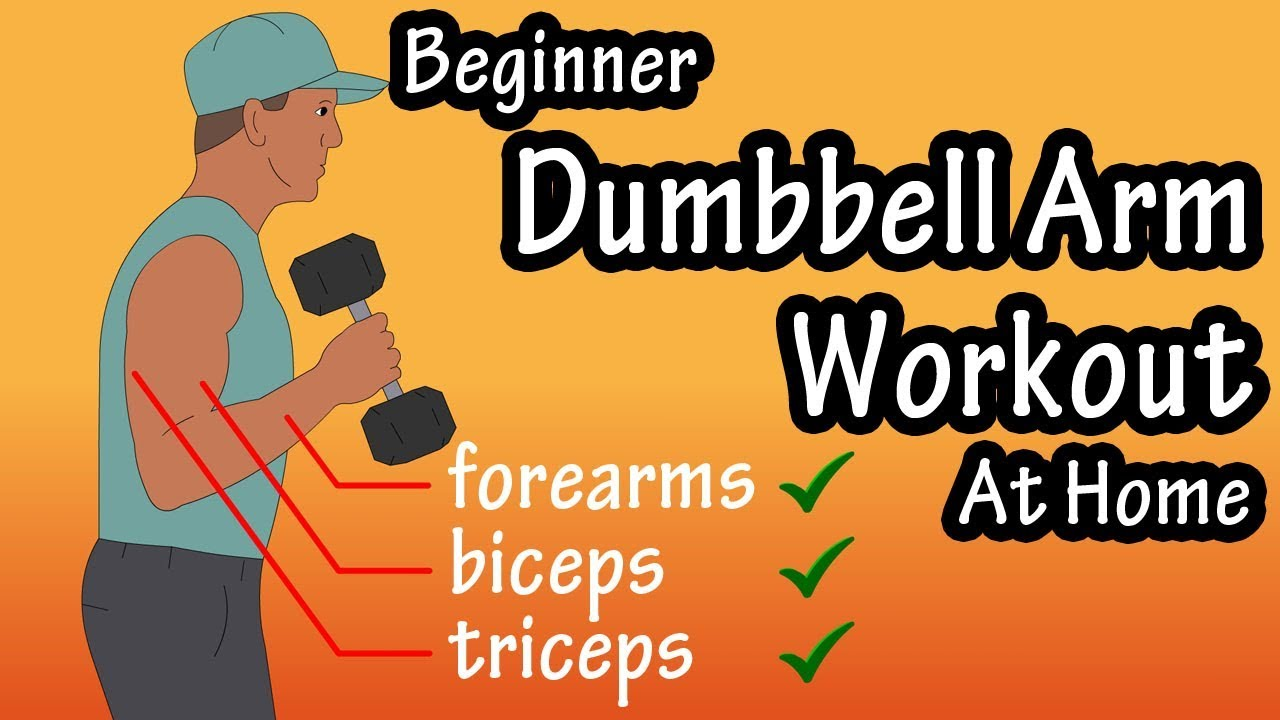 At Home Arm Workout With Dumbbells Weights Beginner Arm Workout With Weights At Home Youtube