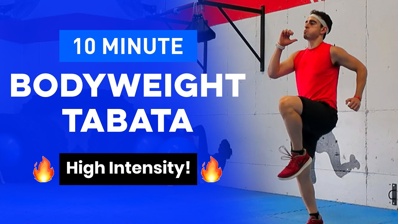 BODYWEIGHT TABATA - FOLLOW ALONG WORKOUT (Sweat in 10 Minutes!)