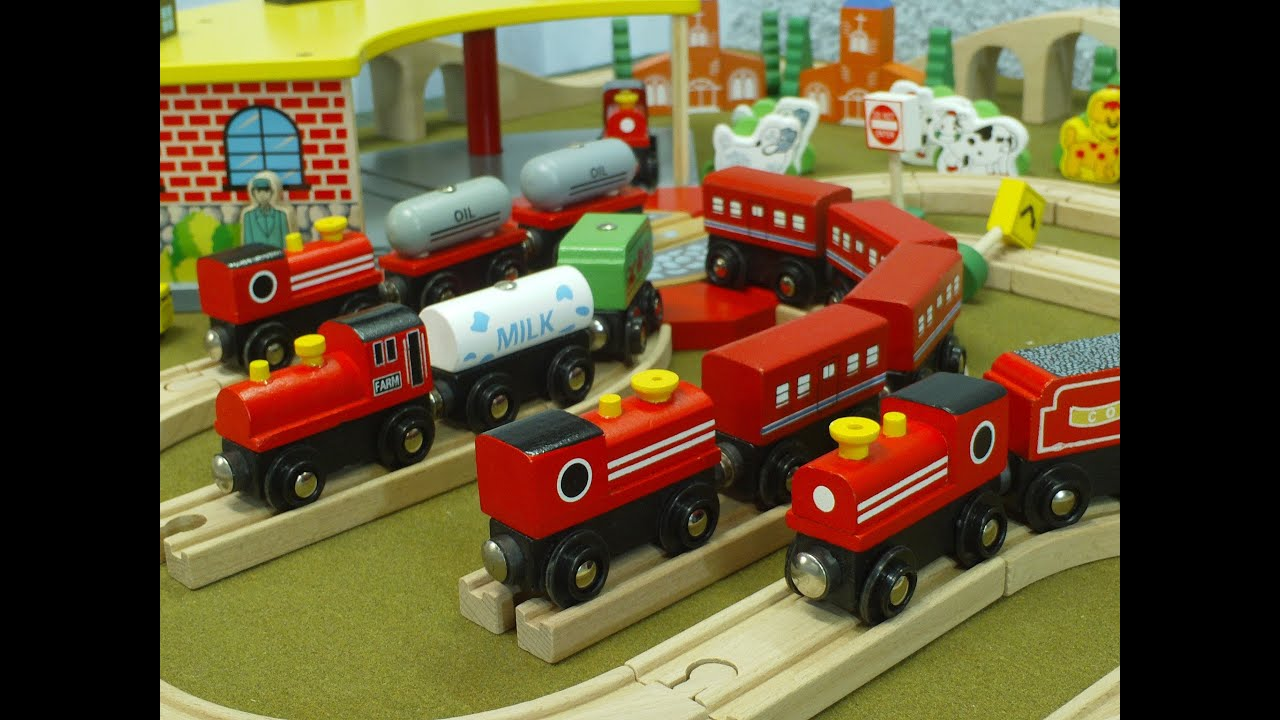 Video For Children Toy Trains Red Trains For Kiddies Train