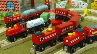 Video For Children Toy Trains Red Trains For Kiddies Train Videos
