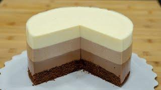 "🍫""Три шоколада"" на СМЕТАНЕ🥛. Муссовый торт - Я - ТОРТодел!"