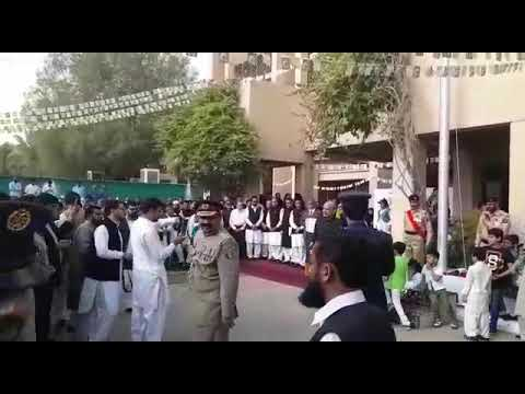 Flag ceremony at Pakistan embassy Riyadh