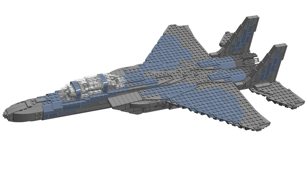 Lego F 15C Eagle Instructions   YouTube