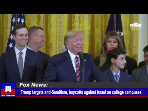 Trump signs executive order targeting college anti-Semitism | Real Trump News