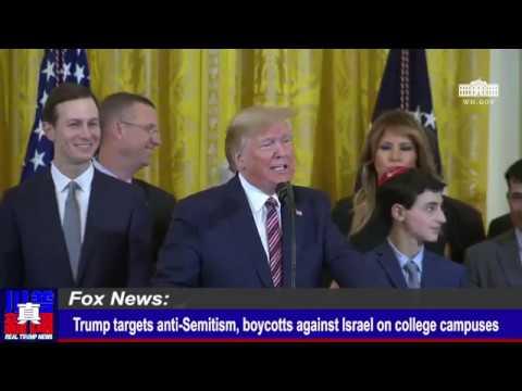 Trump signs executive order targeting college anti-Semitism | Real Trump News